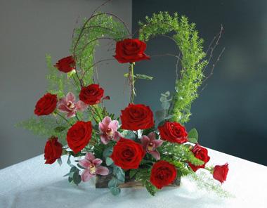 Bedfordshire Valentines Day Flower Basket