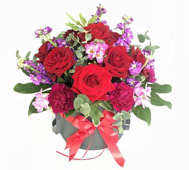 Valentines Day Flower Hatbox Bedfordshire