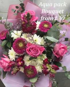 mothers day aqua pack bouquet