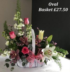 mothers day oval basket
