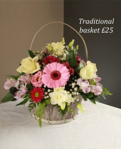 mothers day traditional basket